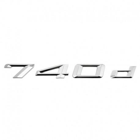 Emblema spate portbagaj 740d pentru BMW