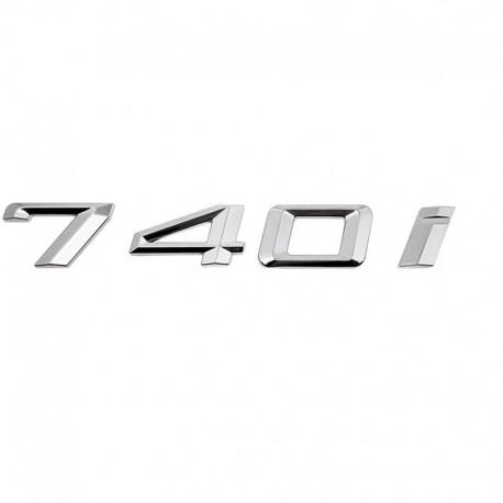 Emblema spate portbagaj 740i pentru BMW