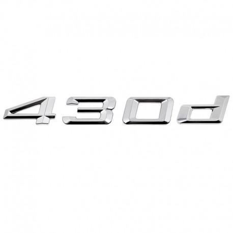Emblema spate portbagaj 430d pentru BMW