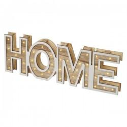 Decoratiune HOME lemn, 35 Led 2xAA, alb cald  ZY2204