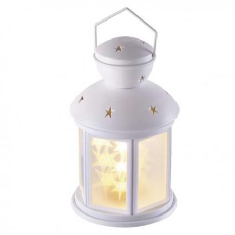 Felinar alb, 3D Star ,6 Leduri, cu timer, 3XAA, alb cald  ZY2113