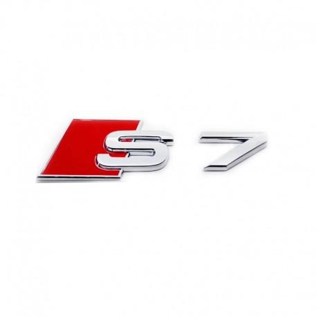 Emblema S7 Audi Sline spate portbagaj metal