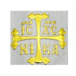 Autocolant cruce pentru masina, culoare gold