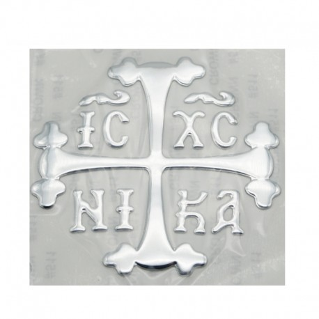 Autocolant cruce pentru masina,culoare silver