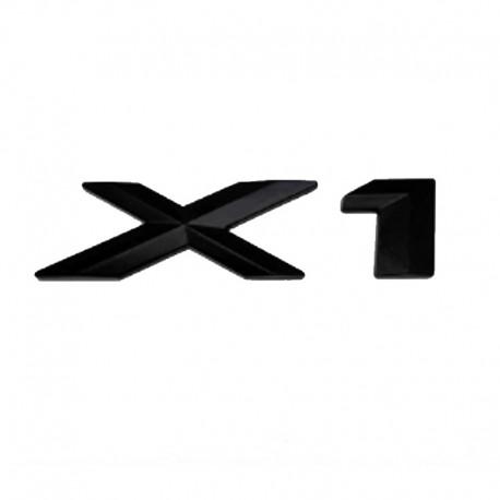 Emblema X1 spate portbagaj BMW, Negru matt