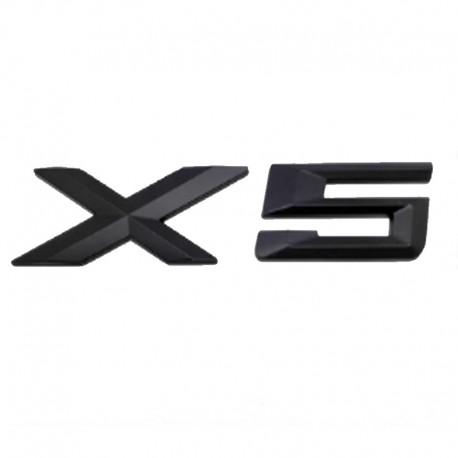 Emblema X5 spate portbagaj BMW, Negru matt