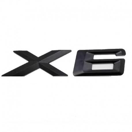 Emblema X6 spate portbagaj BMW, Negru matt