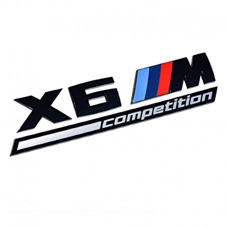 Emblema X6M Competition spate portbagaj BMW, Negru matt