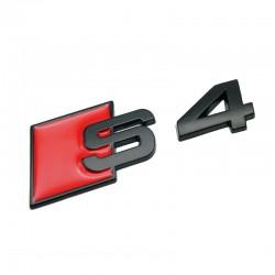Emblema S4 spate portbagaj Audi,Negru matt