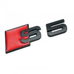 Emblema S5 spate portbagaj Audi,Negru matt