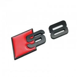 Emblema S8 spate portbagaj Audi,Negru matt