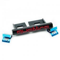 Emblema Quattro grila fata Audi,negru cu rosu