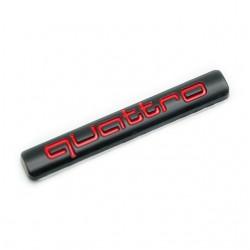 Emblema Quattro spate portbagaj Audi negru cu rosu