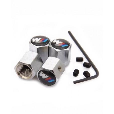 Set 4 capace ventil/valve cu antifurt, metalice, BMW M