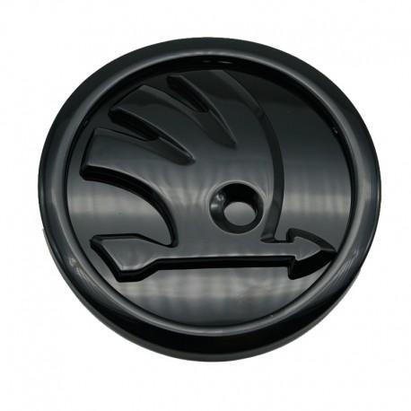 Emblema/sigla Skoda negru Octavia, Fabia, Superb, Rapid