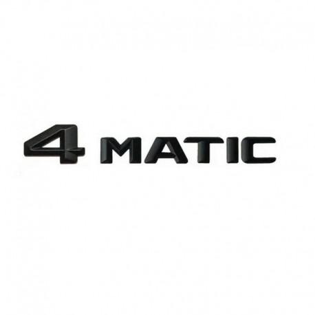 Emblema 4 Matic spate portagaj Mercedes, negru matt