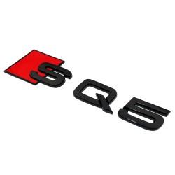 Emblema SQ5 spate portbagaj Audi, Negru