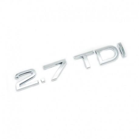 Emblema 2.7 TDI spate portbagaj
