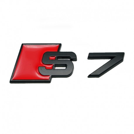 Emblema S7 spate portbagaj Audi,Negru matt