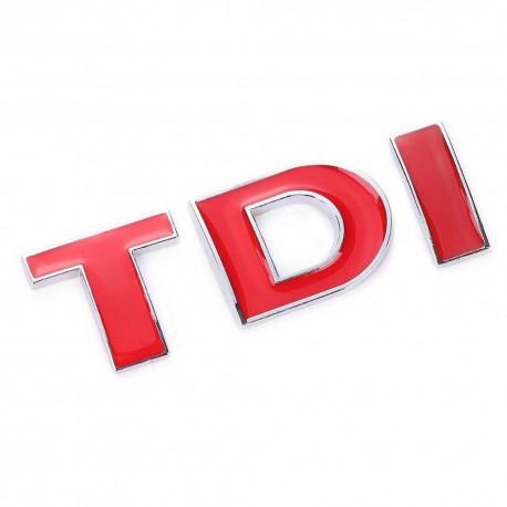 Emblema TDI rosu pentru Volkswagen