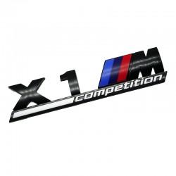 Emblema X1M Competition spate portbagaj BMW, Negru