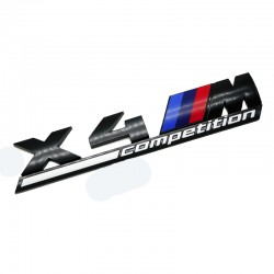 Emblema X4M Competition spate portbagaj BMW, Negru