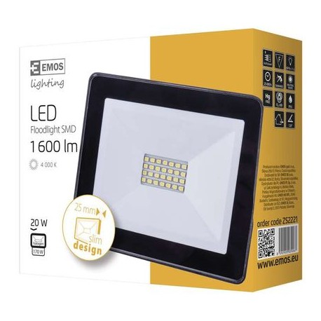 Proiector LED Emos Slim 20W 1600 lm