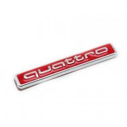 Emblema Audi Quattro spate portbagaj rosu