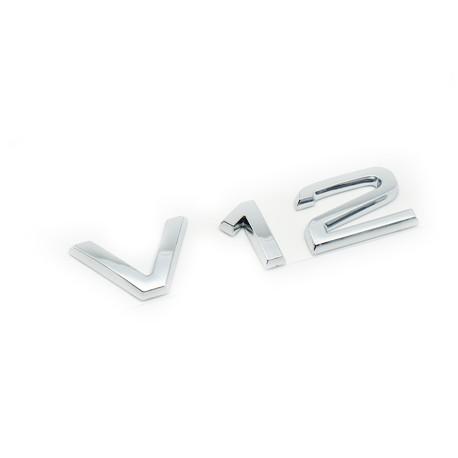 Emblema V12 Audi spate portbagaj
